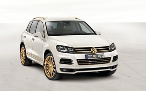 Wallpaper White, Volkswagen, Gold, Room, Drives, Touareg