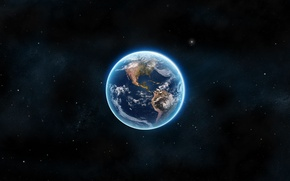 Wallpaper earth, planet, space, landscapes