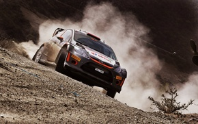 Picture Ford, Dust, WRC, Rally, Fiesta, Kubica