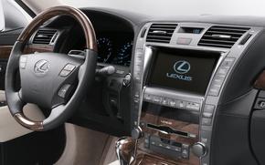 Picture machine, auto, lexus, sedan, salon, Lexus, hybrid, dashboard, long, лс600, ls600hl, long