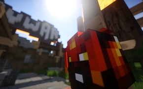 Picture macro, character, Minecraft