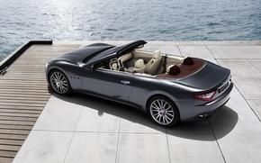 Picture sea, Maserati, Italy, convertible, top, back, main, Maserati