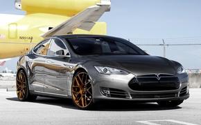 Picture wheels, Model, Tesla, Before, Garde
