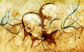 Picture line, creative, contour, face, art, vhm-alex