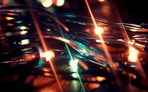 Picture light, color, garland