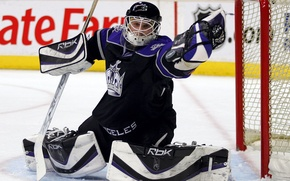 Wallpaper hockey, NHL, NHL, Dan, hockey, goalkeeper, Dan, Kings, kings, Los, Angeles, Cloutier, Los, Cloutier, Angeles