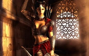 Wallpaper room, Archer, the game, Princess, arrows, Headlight, the city, Prince of Persia: The Two Thrones, ...