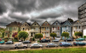 Picture machine, house, San Francisco, houses, Victorian