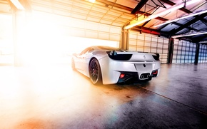 Picture light, lamp, garage, hangar, Ferrari, Blik, 458, Italia