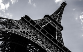 Picture the city, Wallpaper, France, Paris, height, beauty, Eiffel tower, architecture