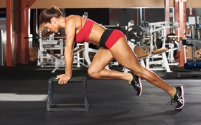 Picture pose, female, workout, fitness, gym, training
