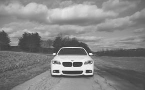 Picture BMW, white, F10, WHEELS, 5 Series, Vossen