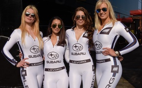 Picture style, girls, Subaru, team, form