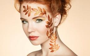 Picture portrait, elegant, hairstyle, Autumn woman