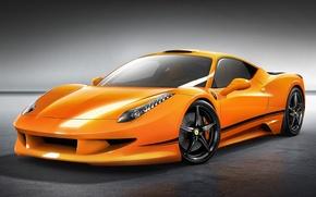 Picture car, machine, auto, orange, Ferrari, Ferrari, supercar, supercar, 458, orange, avto, Italia