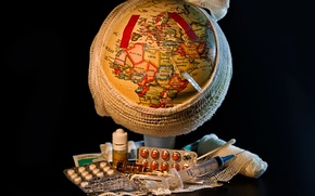 Picture the world, policy, the globe, globe, disease, medication