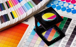 Picture colors, template, printing works