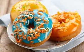Picture donuts, cake, dessert, cakes, sweet, glaze, donuts