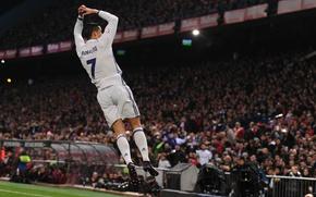 Picture pose, smile, jump, football, medal, flight, Portugal, Cristiano Ronaldo, legend, player, goal, stadium, football, CR7, …