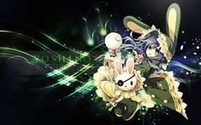 Picture lights, rabbit, girl, headband, ears, blue hair, date a live, yoshino