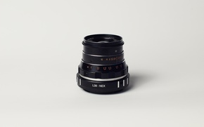 Picture macro, lens, Industar