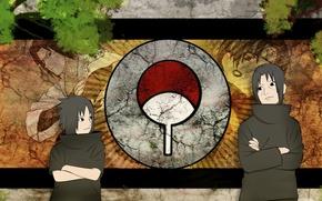 Picture Sasuke, naruto, anime, art, Itachi, Uchiha clan