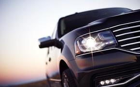 Picture Auto, Black, Headlight, Machine, SUV, The reflection, Lincoln Navigator