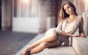 Picture look, beauty, stage, legs, photographer, sitting, Maarten Quaadvliet