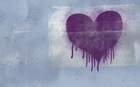 Picture purple, love, wall, graffiti, heart