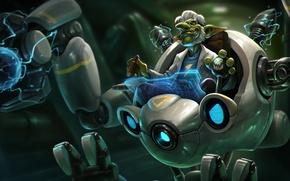 Picture robot, cigar, Goblin, Heroes of Newerth, Doctor Repulsor, Ascension Doctor Repulsor