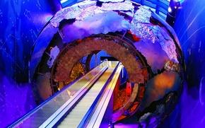 Wallpaper Museum of natural history, England, London, escalator