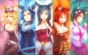 Picture Ahri, Nine-Tailed Fox, lol, Fox, League of Legends