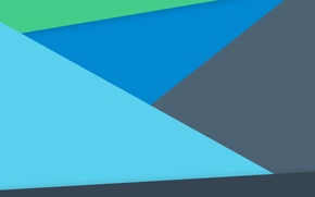 Wallpaper Blue, Green, Design, Line, Lollipop, Material, Android 5.0, Triangles