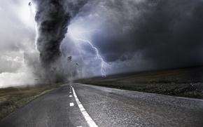 Picture road, markup, zipper, tornado