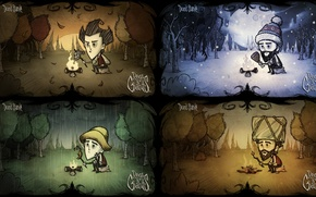 Picture the game, seasons, Wilson, Don't starve, the going day