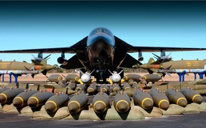Wallpaper Missiles, Ammunition, Bomber, Weapons, Dynamics, Weapons, Equipment, Tactical, General, Torpedoes, F-111, Bombs, The airfield, The ...