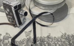 Picture background, camera, film