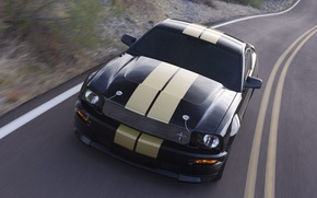 Picture road, speed, power, Shelby GT-H, Mustan