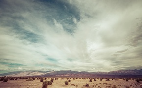 Picture USA, United States, sky, desert, mountains, clouds, sand, Nevada, wilderness, America, United States Of America, …