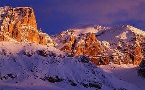Picture the sky, snow, mountains