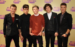 Picture group, Harry Styles, One direction, Liam Payne, Louis Tomlinson, Zayn Malik, Niall Horan, MTV Video …