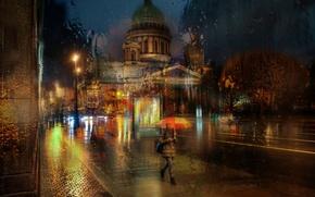 Picture autumn, rain, Saint Petersburg