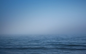 Picture sea, the sky, water, fog, wave, horizon