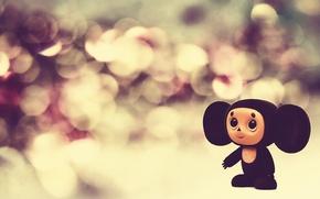 Picture lights, bright, toys, doll, Macro, lights, Cheburashka, toy, bright, puppet