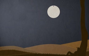 Picture paper, the moon, Minimalism