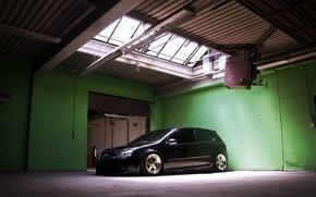 Picture volkswagen, black, Golf, golf, Volkswagen, gti, MK5