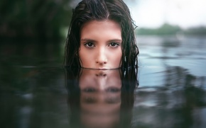 Wallpaper look, reflection, in the water, Martin Kühn, Clara