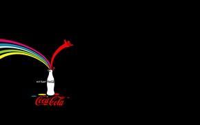 Picture bottle, advertising, Coca Cola