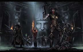Picture Blizzard, rpg, Diablo III, Monk, Crusader, Demon hunter, Reaper of souls, Barbarian, Fascinator, Shaman