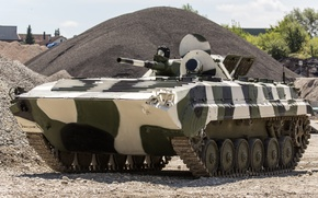 Picture crawler, machine, BMP-1, Soviet, floating, first, combat, serial, armored